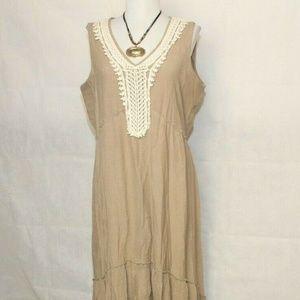 NY Collection Sleeveless Hi-low Maxi Dress L B477